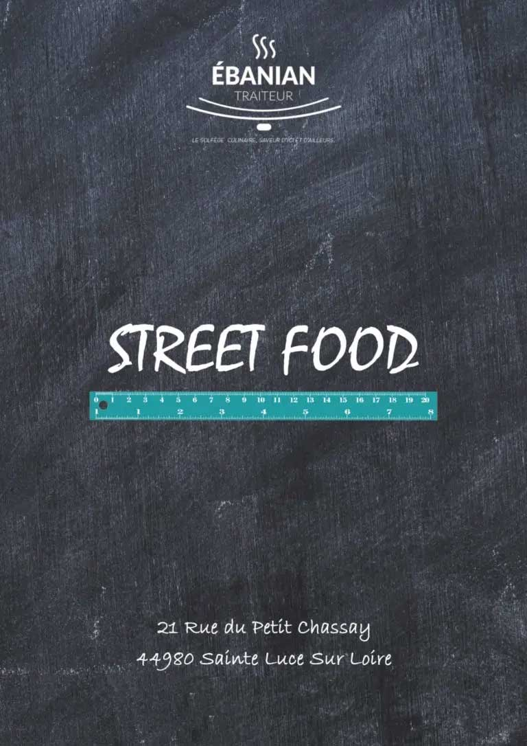 MENU STREET FOOD Ebanian Traiteur Nantes 44