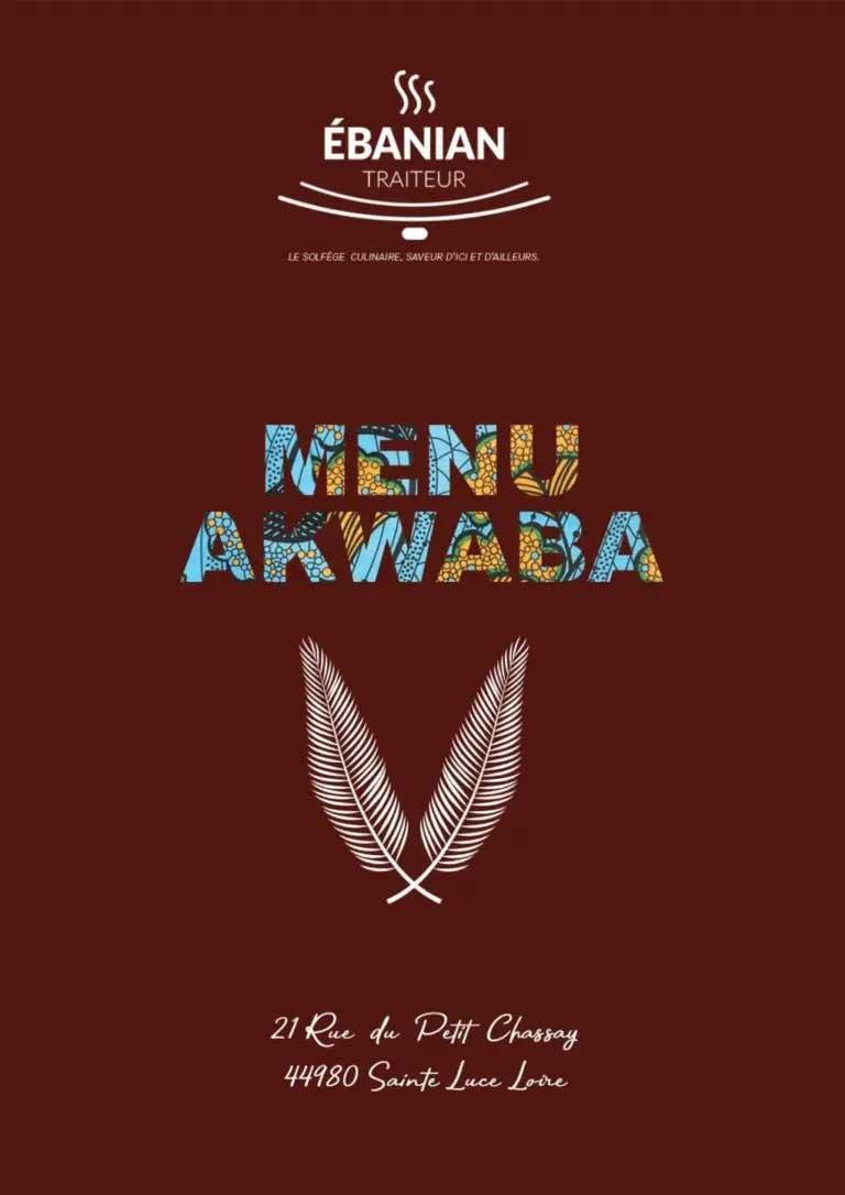 MENU AKWABA cuisine africaine
